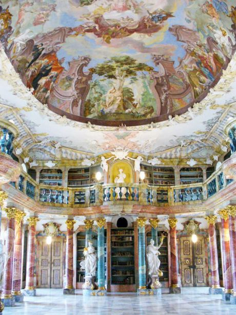 Biblioteca-Monasterio-Wiblingen-Ulm-Alemania