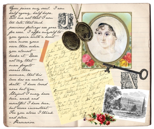 Jane Austen quote collage