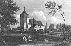 300px-St_Pancras_Old_Church_in_1815
