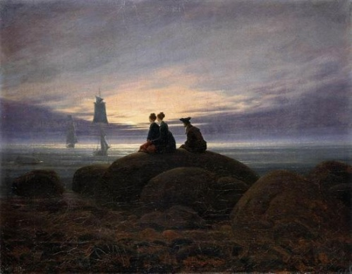 Caspar David Friedrich: Moonrise by the sea (1822)