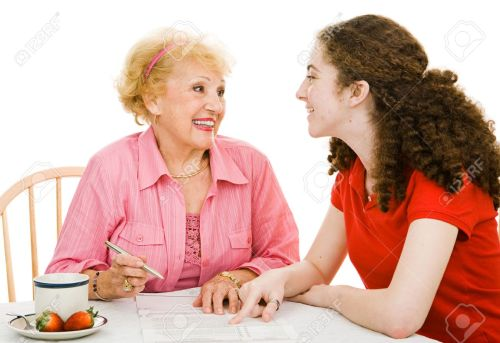 2607675-senior-grandmother-and-teen-grandmother-discussing-democracy-stock-photo